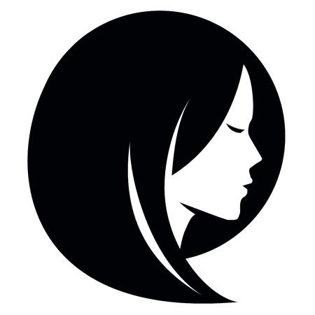 Illustration pour girl head on a white background. vector illustration - image libre de droit