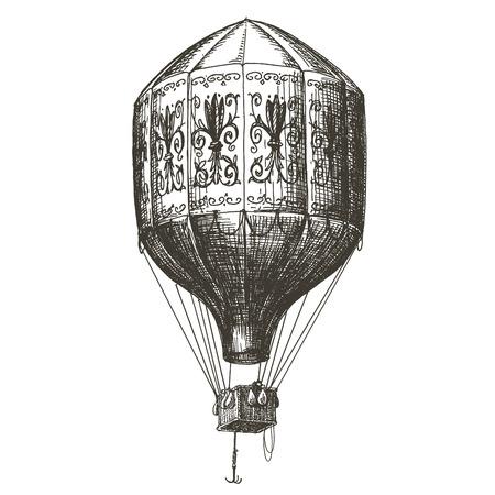 Illustration pour sketch. Vintage balloon on white background. vector illustration - image libre de droit