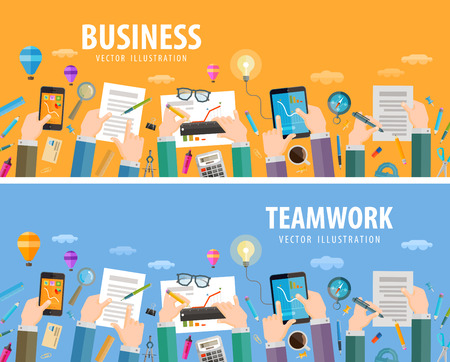 Illustration pour business. business people and office.  - image libre de droit