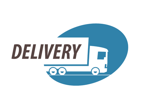 Photo for delivery. truck on a white background. vector illustration - Royalty Free Image