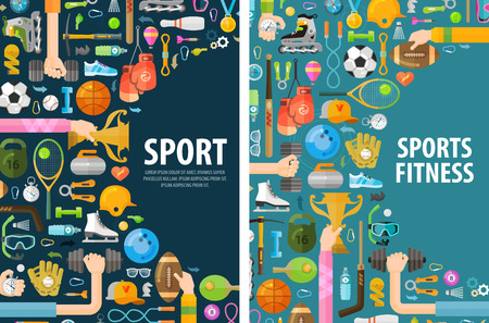 Ilustración de sports on a white background. illustration - Imagen libre de derechos