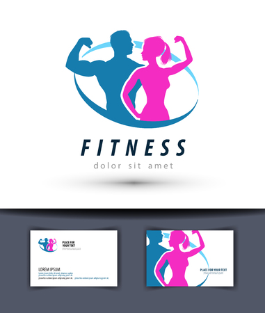 Ilustración de sports and fitness on a white background. illustration - Imagen libre de derechos