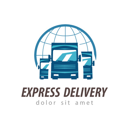 Photo pour delivery. truck on a white background. vector illustration - image libre de droit