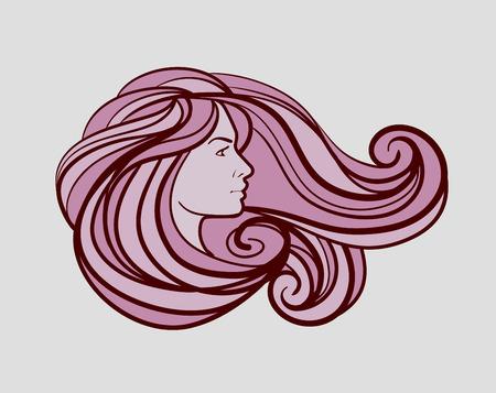 Illustration pour beautiful woman logo for beauty salon, spa. Vector illustration - image libre de droit
