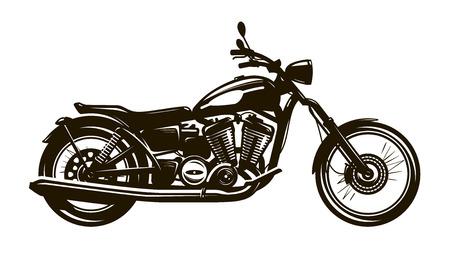 Illustration pour Retro motorcycle. Silhouette vector illustration - image libre de droit