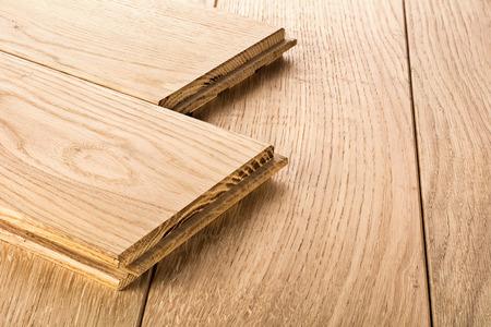 Photo pour Wood parquet pieces , board for flooring - image libre de droit