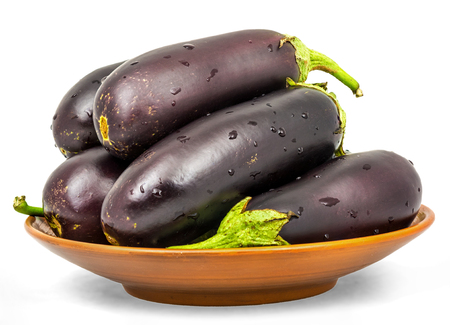 Foto de Eggplant . Isolation on a white background with a clipping paths - Imagen libre de derechos