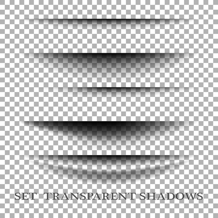 Illustration pour Transparent realistic paper shadow effect set. Web banner. Element for advertising and promotional message isolated on transparent background. - image libre de droit