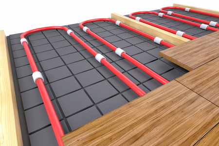 Photo for pipes for floor heating - Royalty Free Image