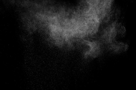 Photo pour abstract white dust explosion on a black background - image libre de droit
