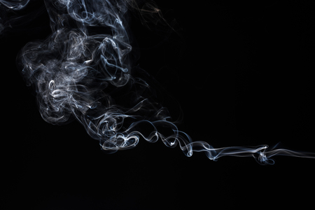 Photo for Smoke on black background.  Abstract vape clouds. Freeze motion. - Royalty Free Image