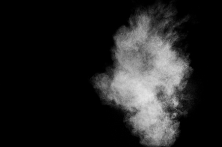 Photo for White powder explosion on black background. Abstract white dust texture. - Royalty Free Image
