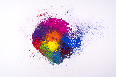 Photo for multi colored natural pigment powder - Royalty Free Image