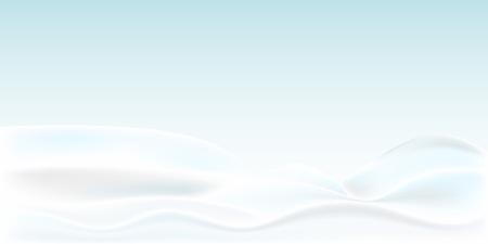 Illustration pour Realistic snowdrift isolated. Vector illustration with snow hills. Winter snowy landscape. - image libre de droit