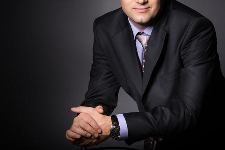 Foto de Elegant man in fashion suit. Businessman in formal wear. - Imagen libre de derechos