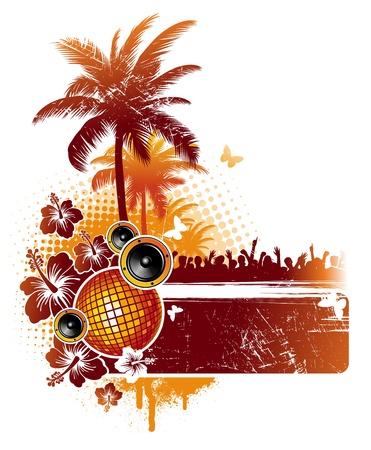 Ilustración de Tropical party - vector illustration - Imagen libre de derechos