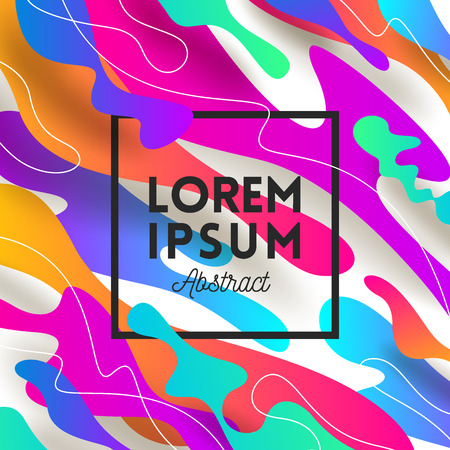 Illustration pour Vector illustration. Abstract shape multicolored background with fame for message. Design for greeting card, poster, cover or flyers. - image libre de droit