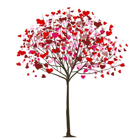 Photo pour valentine tree with hearts  - image libre de droit