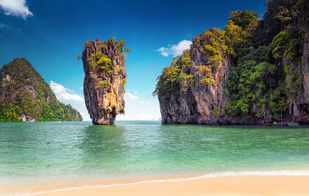Photo for James Bond island near Phuket in Thailand. Famous landmark and famous travel destination - Royalty Free Image