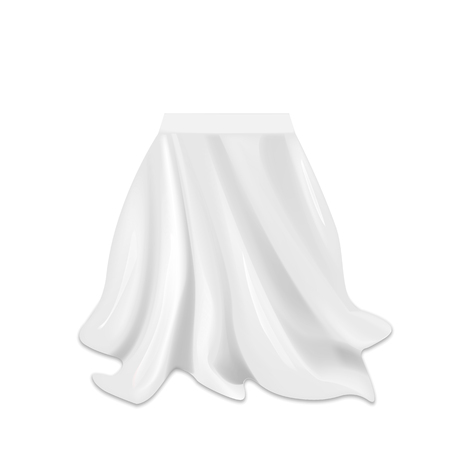 Illustration pour Realistic box covered with silk cloth isolated on white background. Vector illustration. - image libre de droit