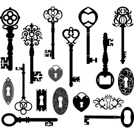 Illustration for Keys Silhouette - Royalty Free Image