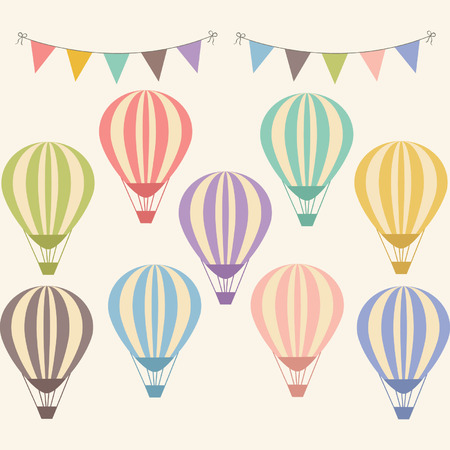 Illustration pour Vintage Hot Air Balloon - image libre de droit