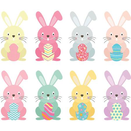 Illustration pour Easter Bunny set - image libre de droit