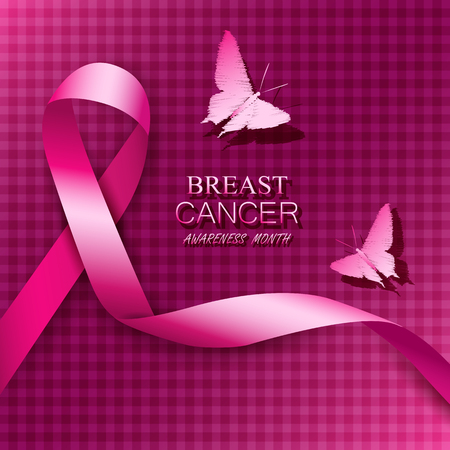 Ilustración de Breast cancer awareness pink ribbons. Vector illustration. - Imagen libre de derechos