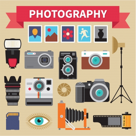 Illustration pour Photography - Icons Vector Set - Creative Design Pictures - image libre de droit