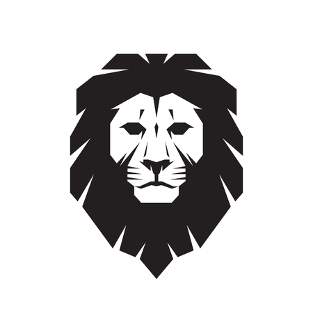 Lion head - vector sign concept illustration. Lion head logo. Wild lion head graphic illustration. Design element.
