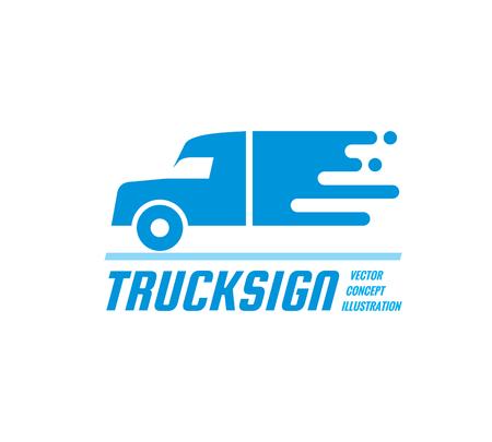 Photo pour Truck sign - vector business logo template. Abstract car silhouette concept illustration. Delivery service creative symbol. Transport icon. Design element. - image libre de droit