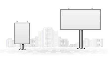 Illustration pour Billboards - image libre de droit