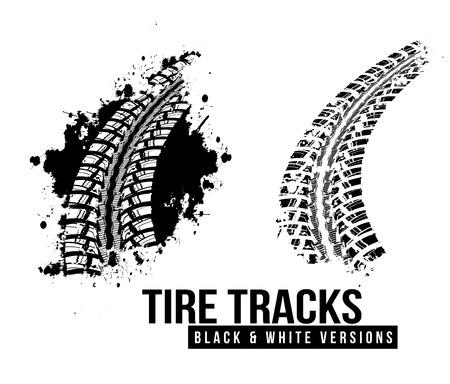 Illustration pour Tire track background - image libre de droit