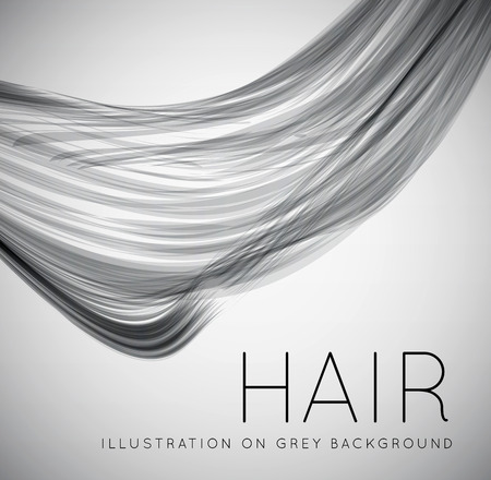 Illustration for Closeup of long human hair - Royalty Free Image