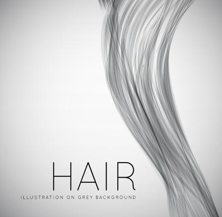 Ilustración de Closeup of long human hair - Imagen libre de derechos