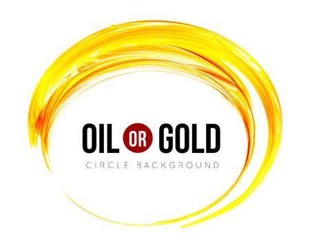 Ilustración de Oil or gold - Imagen libre de derechos
