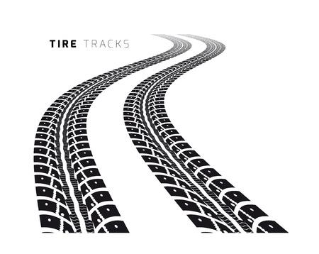 Illustration pour Tire tracks - image libre de droit