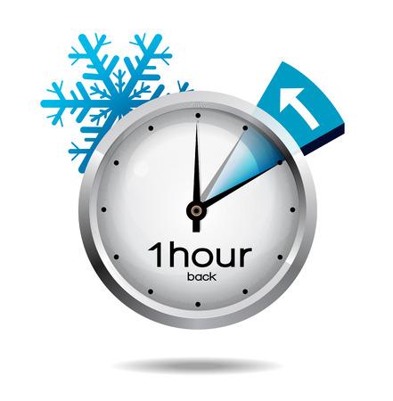 Illustration pour Clock switch to winter time - image libre de droit