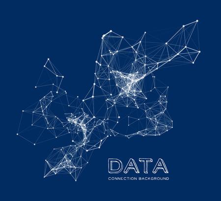 Ilustración de Abstract network connection background - Imagen libre de derechos