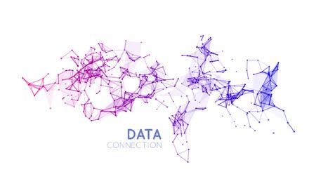 Ilustración de Abstract network connection. Vector technology background on white - Imagen libre de derechos