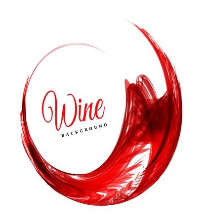 Illustration pour Abstract red wine background - image libre de droit