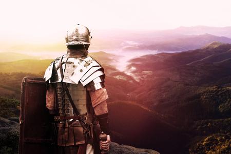Photo pour ancient roman legionary soldier - image libre de droit