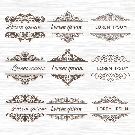 Illustration pour Ornate frames and scroll elements. - image libre de droit