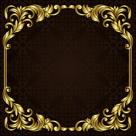 Illustration pour Vector ornate gold border - image libre de droit
