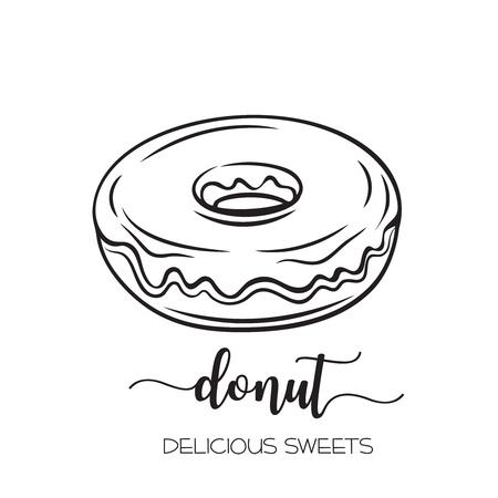 Illustration pour hand drawn donut - image libre de droit
