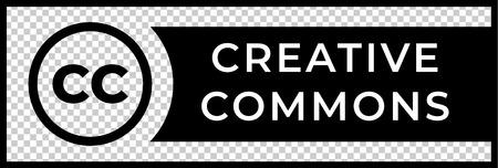 Ilustración de Creative commons rights management sign with circular CC icon - Imagen libre de derechos