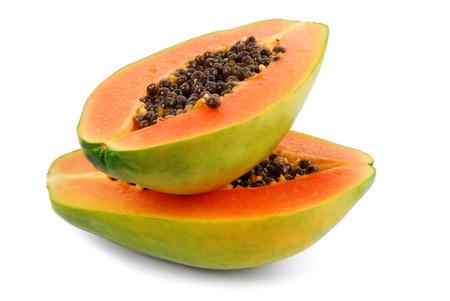 Photo for papaya fruit  isolated on white - Royalty Free Image