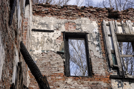 Photo for Ruins of an old abandoned house - Royalty Free Image