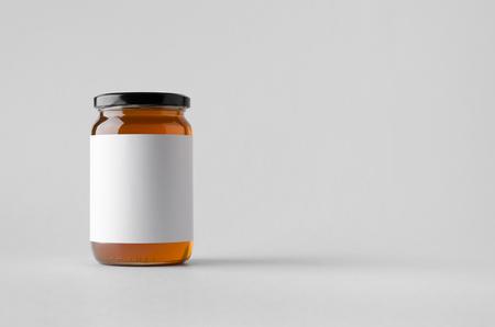Photo pour Honey Jar Mock-Up - Blank Label - image libre de droit