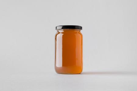 Photo pour Honey Jar Mock-Up - image libre de droit